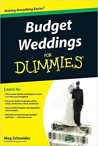 amazon budget weddings for dummies for dummies series meg