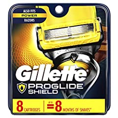 Gillette Fusion5 ProShield men's razor blade refills feature 5 anti-friction blades. With lubrication before & after the blades, it shields skin from irritation while you shave. The Precision Trimmer on the back is great for hard-to-reach...