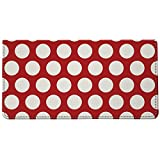 Snaptotes Red Polka Dot Design Style Checkbook Cover One Size