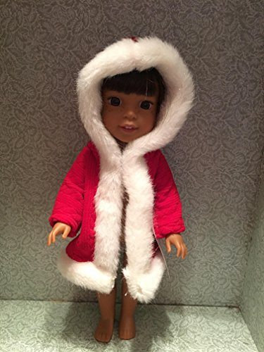 Red and white Coat Handmade for Wellie Wisher Doll