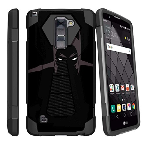 Case for LG Stylo 2 Plus[SHOCK FUSION] Shockproof Hybrid Kickstand Case for LG Stylus 2 Plus with Kickstand by Miniturtle - Dark (Knight Hybrid)