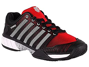 Kswiss - Zapatillas Kswiss Hipercourt Express Hb Black/Red, Talla 44, Unisex: Amazon.es: Deportes y aire libre