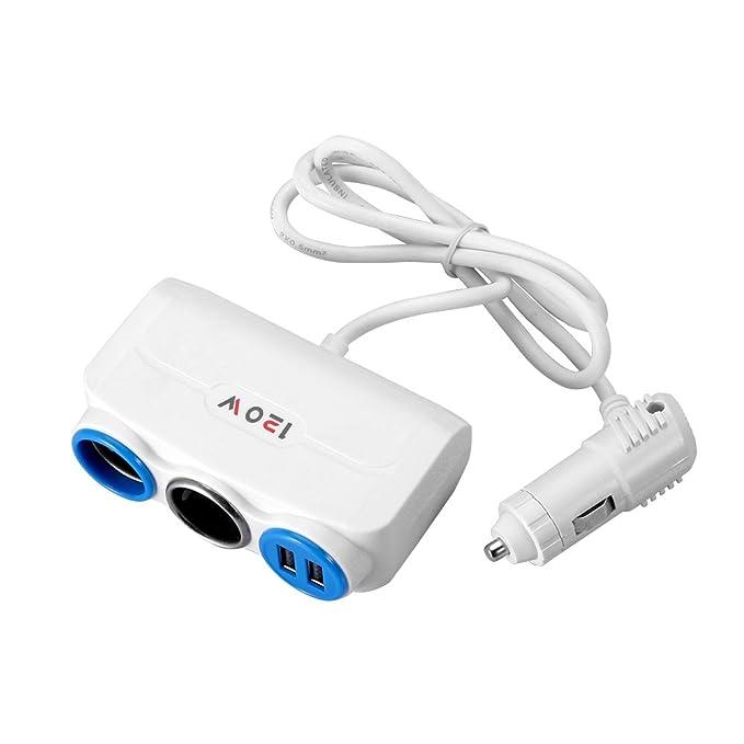 Socket Adaptador de mechero de Coche Divisor con Dual USB ...