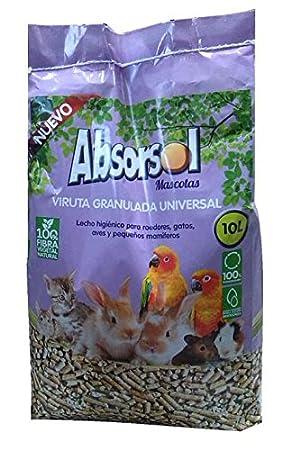 Absorsol 0000000013996 Lecho Higiénico Desodorizante, 10 litros: Amazon.es: Productos para mascotas