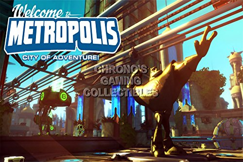 Ratchet & Clank CGC Huge Poster Glossy Finish Full Frontal Assault - Welcome to Metropolis PS2 PS3 PSP - RAT006 (24