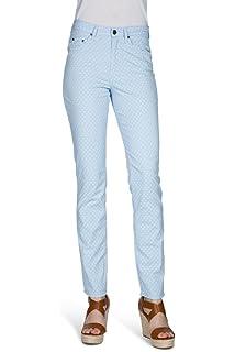 61bb5dba17f5 Kañopé Mandarine conty pila-Pantalon Toile Coupe Slim-Femme  Amazon ...