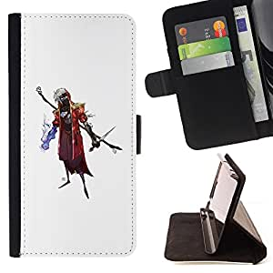 KingStore / Leather Etui en cuir / Apple Iphone 5C / Asistente de Goth