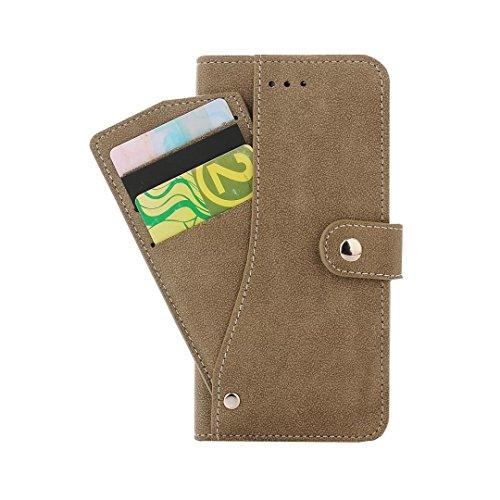 Funda iPhone 7, iPhone 7 Plus, Funda iPhone 6/6S, Funda iPhone 6Plus/6S Plus,Protector de Pantalla de Slim Case Estilo Billetera con Ranuras para Tarjetas, Soporte Plegable, Cierre Magnético(ARD-09) B