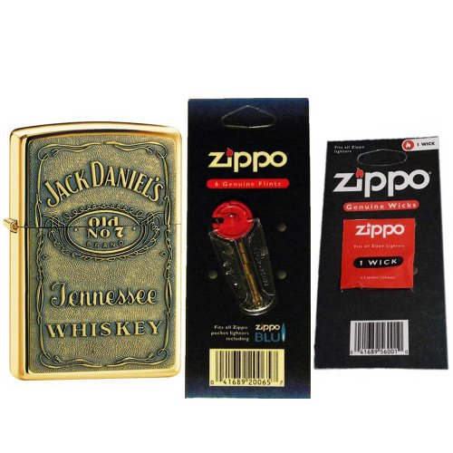 Zippo Jack Daniels Pewter Emblem Lighter 254BJD.428