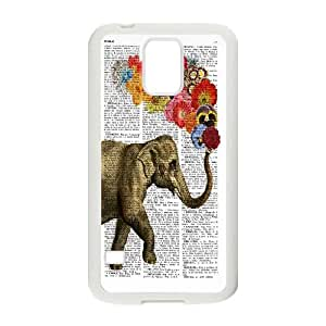 Chaap And High Quality Phone Case For Samsung Galaxy S5 -Animal Elephant Pattern-LiShuangD Store Case 2