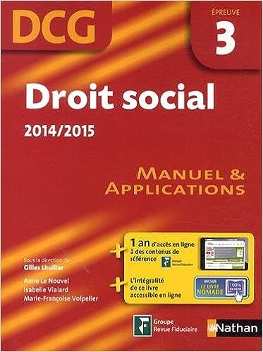 Livre DROIT SOCIAL EPREUVE 3 DCG pdf