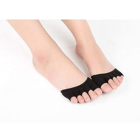 Amazon.com : Cozylkx Non Slip Grip Heel Five Finger Socks ...