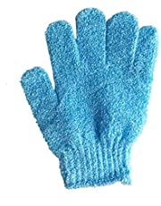 Bath Exfoliating Nylon Shower Gloves (4 Pieces)