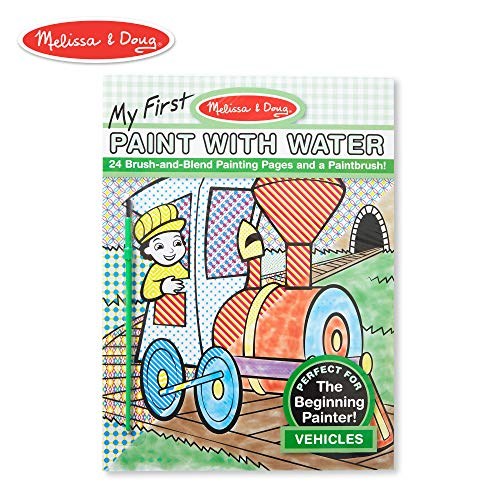 (Melissa & Doug My First Paint With Water Coloring Book - Vehicles (24 Painting Pages))