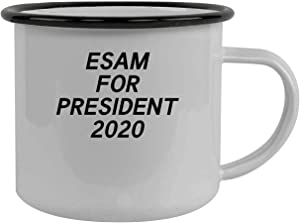 Esam For President 2020 - Stainless Steel 12Oz Camping Mug, Black