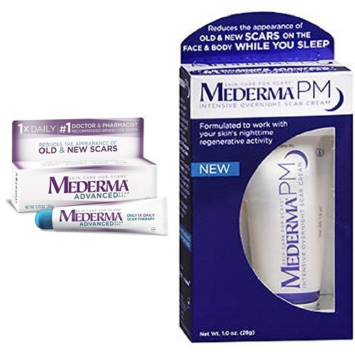 Mederma Advanced Scar Gel With Pm Intensive Overnight Scar Cream 1