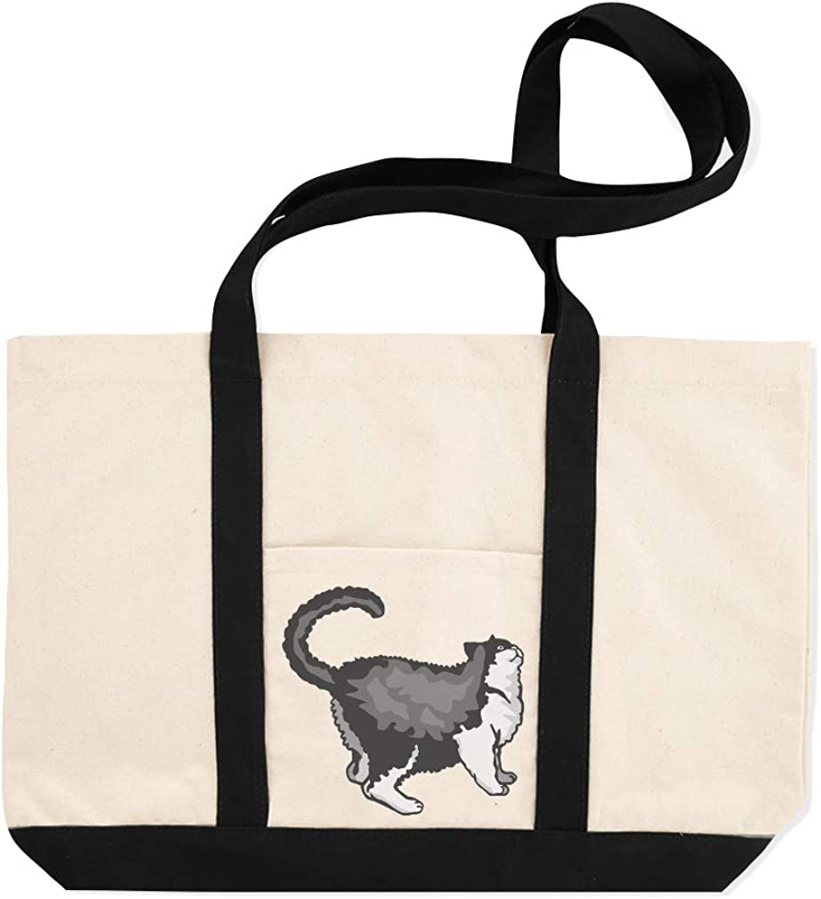 Canvas Shopping Tote Bag Selkirk Rex Cat B Selkirk Rex Beach Bags for Women