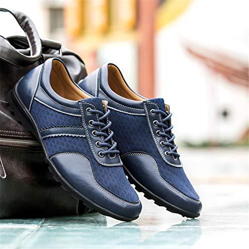 Zapatillas Para Ocasionales Loafter Moda Mesh Air Mens37 Los Deporte Masculinos Zapatos Azul Hombre 47 Respirable Cómodo Hombres Planos Goma De Abrasion Og5SSwq