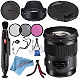 Sigma 50mm f/1.4 DG HSM Art Lens for Canon EF #310101 + 77mm 3 Piece Filter Kit + Lens Pen Cleaner + Fibercloth + Lens Capkeeper + Deluxe Cleaning Kit + Flexible Tripod Bundle