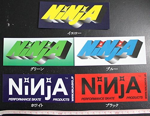 アグネスグレイスプリット伝記【ninja-sticker-big】【NINJA】ニンジャ/大ステッカー/12.8cm×5cm/5カラー/スケートボード スケボー