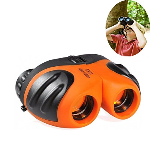 Best Toys for 4-9 Year Old Boys, Best-Sun 8x21 Compact Waterproof Travel Binoculars ,Best Gifts for Kids (4 X 5 Ground Glass)