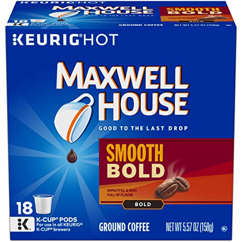 (Maxwell House Smooth & Bold K-Cup Coffee Pods, 18 ct Box (Pack of 4))