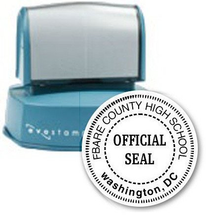 SCHOOL SEAL // CUSTOMIZED / PERSONALIZED SCHOOL ''OFFICIAL SEAL'' (STAMP) // DELUXE QUALITY PROFESSIONAL SEAL [perfect for universities, colleges, academies and schools]
