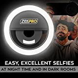 Selfie Ring Light [TAKE CLEAR SELFIES] Adjustable- 3 Level Light Settings For iPhone, Samsung & Smartphones, For Night Time or Dark Rooms [Brightens up Your Face]
