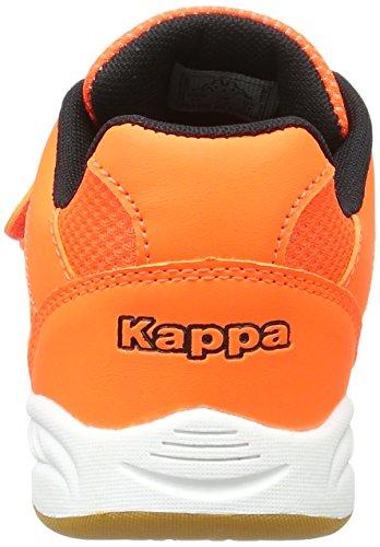 KappaKickoff Teens - Zapatillas Deportivas para Interior Unisex Niños Naranja (4411 Orange/black)