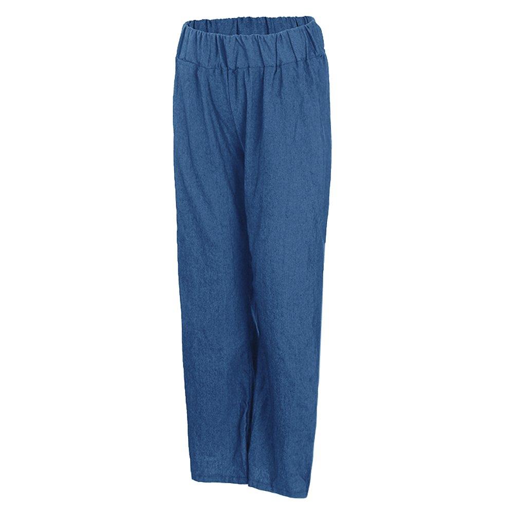 Dihope Femme Longue Pantalon Taille Élastique Couleur Unie Bouffant Palazzo  Casual Pants  Amazon.fr  Vêtements et accessoires cb7962f4988