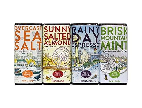 (Seattle Chocolates - Sunny, Brisk, Rainy, and Overcast Bundle - 10 oz (Set of 4) )