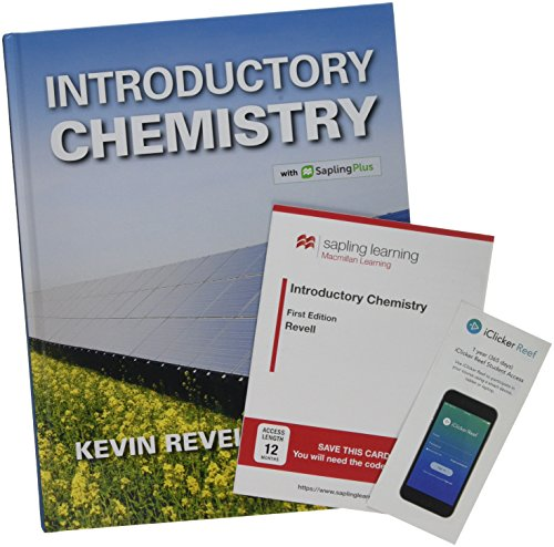 Book cover from Introductory Chemistry & SaplingPlus for Introductory Chemistry (Twelve Months Access) & iClicker Reef Polling (Twelve Months Access; Standalone) by Kevin Revell
