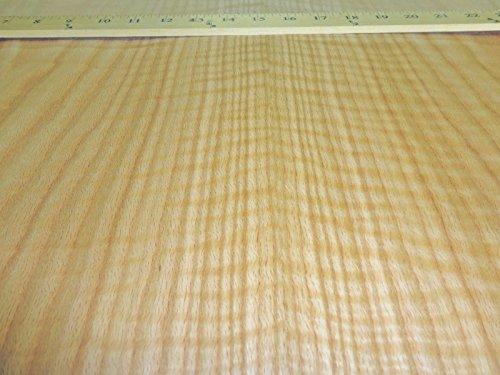 Paper Oak Veneer (Red Oak Figured Tiger Flame wood veneer sheet 24