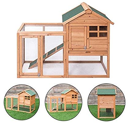 Tangkula Chicken Coop with Small Run