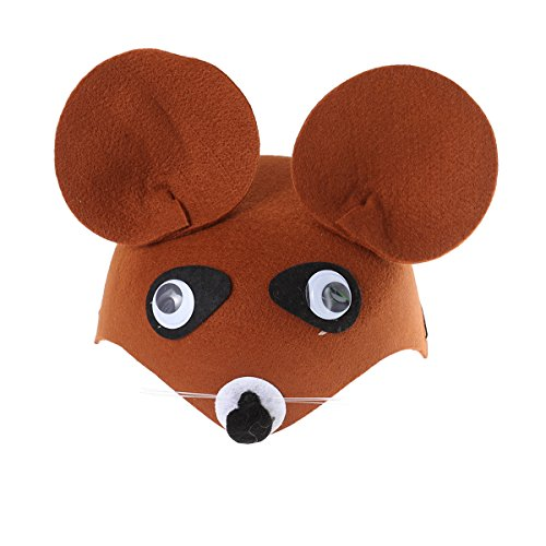 BESTOYARD Cute Cartoon Animal Headdress Children Hat Kindergarten Cap Party Gift for Birthday Children's Day Halloween Cosplay Show Birthday(Little Bear)]()