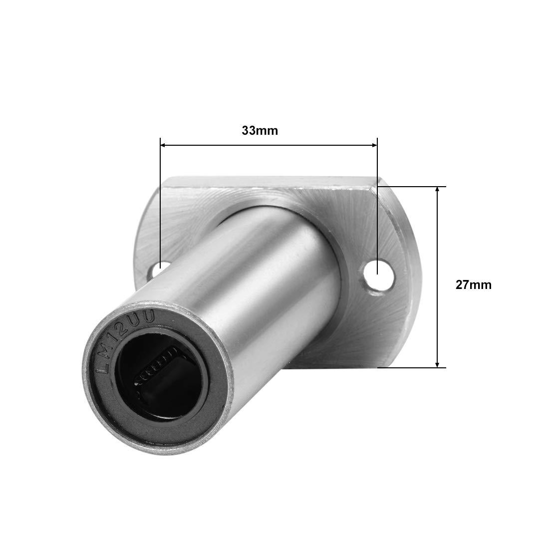 sourcing map LMH6UU Zwei Seitenschnitt Linearkugellager 6mm Bohrung 12mm Au/ßen 19mm L/änge DE de