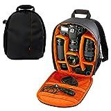 YaeTek Camera Backpack Shoulder Bag DSLR Case For Canon For Nikon For Sony Waterproof,Orange Inside