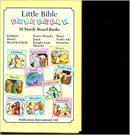 Little Bible Bookshelf 10 Sturdy Board Books Boxed SET Of 9780785335337 Amazon