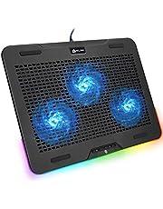 KLIM Aurora + Laptop RGB Cooler- 11 tot 17 Inch + Laptop Gaming Cooling + USB Fan + Stabiel en stil + Mac en PS4 Compatibel + nieuwigheid 2021