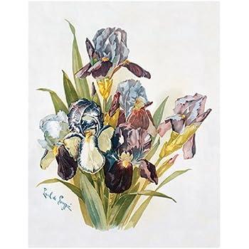 Purple /& White Pansies by Emilie Vouga Art Print of Vintage Art