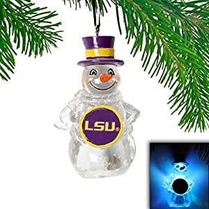 LSU Tigers LED Holiday Snowman Ornament