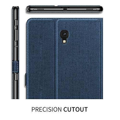 Infiland Samsung Galaxy Tab S4 10.5 Case, Multiple Angle Stand Cover Support Auto Wake/Sleep for Samsung Galaxy Tab S4 10.5 Model SM-T830/ T835 2018 Release, Navy