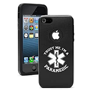 "Apple iPhone 6 (4.7"") Aluminum Silicone Dual Layer Hard Case Cover Trust Me I'm a Paramedic (Black)"