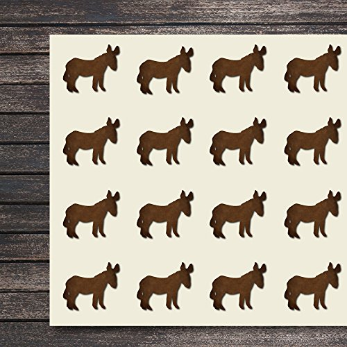 Donkey Craft Stickers, 44 Stickers at 1.5 Inches, Great Shapes for Scrapbook, Party, Seals, DIY Projects, Item 1321226