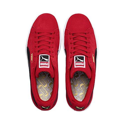 puma adulti Nastro Rosso Bianco per basse Puma Sneakers Suede Misto puma Classic Blk qpngFxP