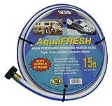 Valterra AquaFresh High Pressure Drinking Water Hose, Water Hose Hookup for RV - 1/2'' x 15', White