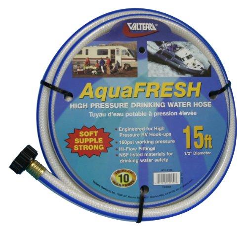 Valterra AquaFresh High Pressure Drinking Water Hose, Water Hose Hookup for RV - 1/2