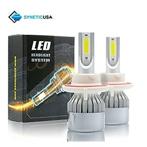 All in One 100W 10000LM LED Headlight DRL Kit/High/Low Beam/Fog Lamp Kit Light Bulbs White 9005 9006 9007 H4 H10 H11 H13 (H13, White)