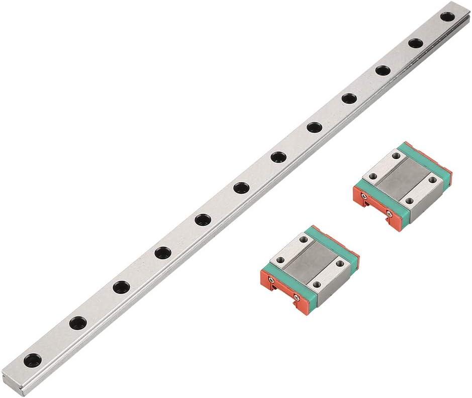 2pcs MGN12B Slide Blocks 1pc 300mm MGN12 Miniature Linear Rail Guide Rail 12mm Width