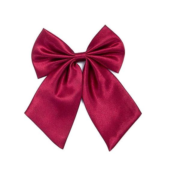 WXHN corbata Señoras Pajarita Rojo Negro Mariposa Dama Pajarita ...